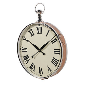 Large Leather Fob Watch Clock - clocks