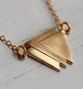 Deco Triangle Necklace