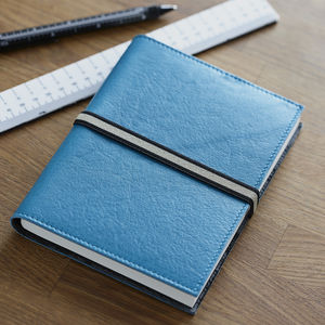 Elasticated Leather Journal - diaries & journals