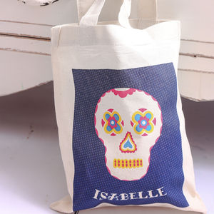 Personalised Day Of The Dead Skull Bag - trick or treat bags