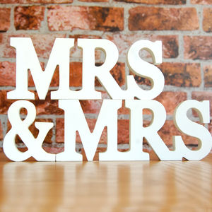 Mrs And Mrs White Wooden Sign