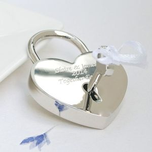 Personalised Locked In Love Padlock - wedding favours