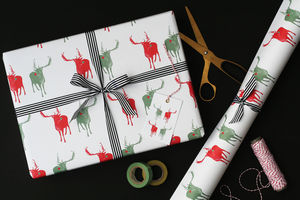 Reindeer Christmas Wrapping Paper - christmas wrapping paper