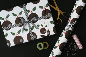 Christmas Pudding Christmas Wrapping Paper - cards & wrap