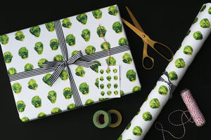 Brussels Sprout Christmas Wrapping Paper - cards & wrap