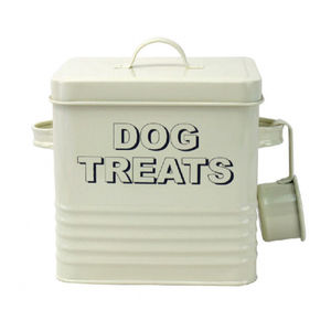 Dog Treat Container In Cream - food, feeding & treats