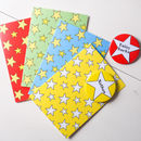 Personalised Star Badge Cards X4 Colours