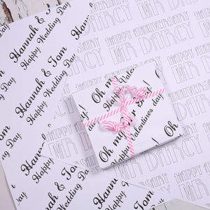 Personalised 'Love' Typographic Gift Wrap - wrapping paper