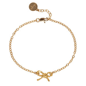 18k Gold Plated Bracelet With Bow