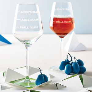Personalised Drinks Measure Wine Glass - shop by recipient