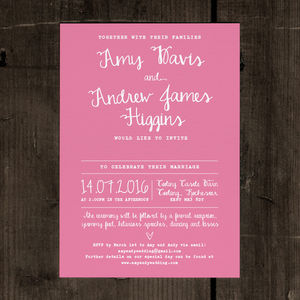Calligraphy Wedding Invitation Stationery - parties
