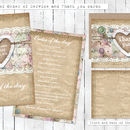 Wedding Stationery Collection 'Homespun'