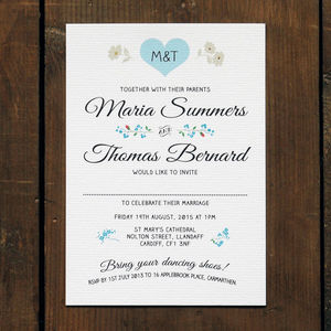 Vintage Heart Wedding Invitation - save the date cards