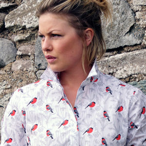 Long Sleeve Bullfinch Print Shirt