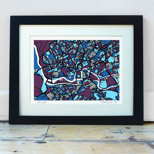 Bristol Map Art Print