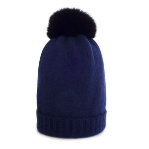 Cashmere Plain Knit Hat