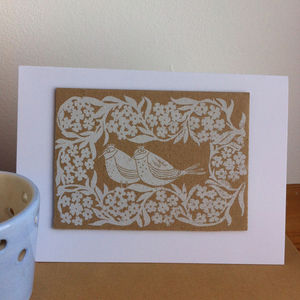 The Royal Birds Hand Printed Greeting Card