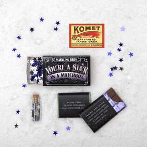'You're A Star' Chocolate Gift In A Matchbox - stocking fillers for babies & children