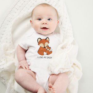 'I Love My…' Personalised Fox Baby Vest
