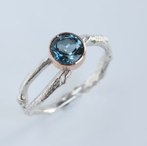 Blue Topaz Woodland Twig Ring - women's jewellery