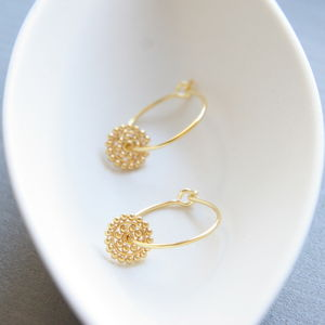 Dotty Disc Hoop Earrings - mystical jewellery