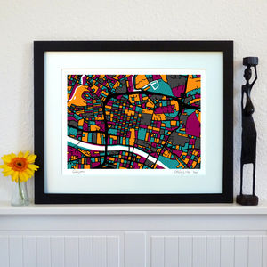 Glasgow Map Art Print