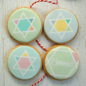 Personalised Christmas Stars Cookie Box