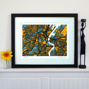 Belfast Map Art Print