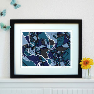 Oxford Map Art Print