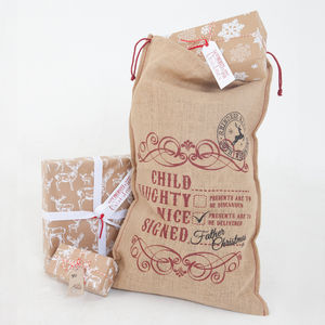 Sacks Naughty And Nice Christmas Sack