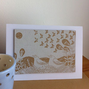 A New Direction Hand Printed Greeting Card - christmas cards