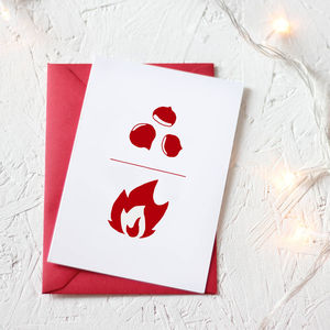 Christmas Formula Chestnuts Over Open Fire Card