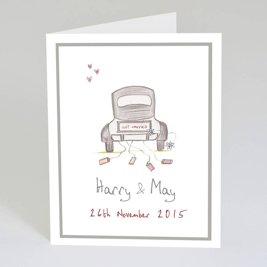 personalised wedding card by violet pickles notonthehighstreet.com