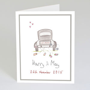 Personalised Wedding Card - wedding cards