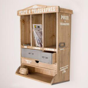 Wooden Hallway Storage Cabinet - shelves