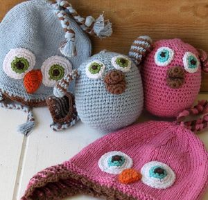 Baby Knitted Pink Bird Rattle