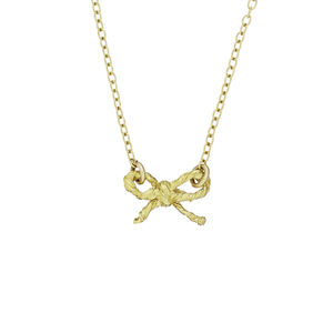 18k Gold Plated Bow Necklace