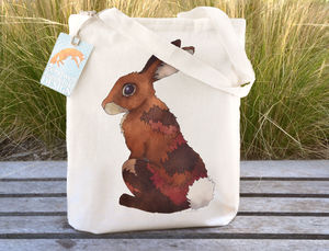 Bunny Rabbit Cotton Tote Bag - womens