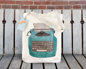 Typewriter Cotton Tote Bag