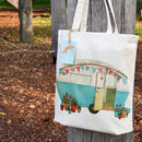 Caravan Design Cotton Tote Bag