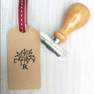 Family Tree Monogram Stamp - personalised