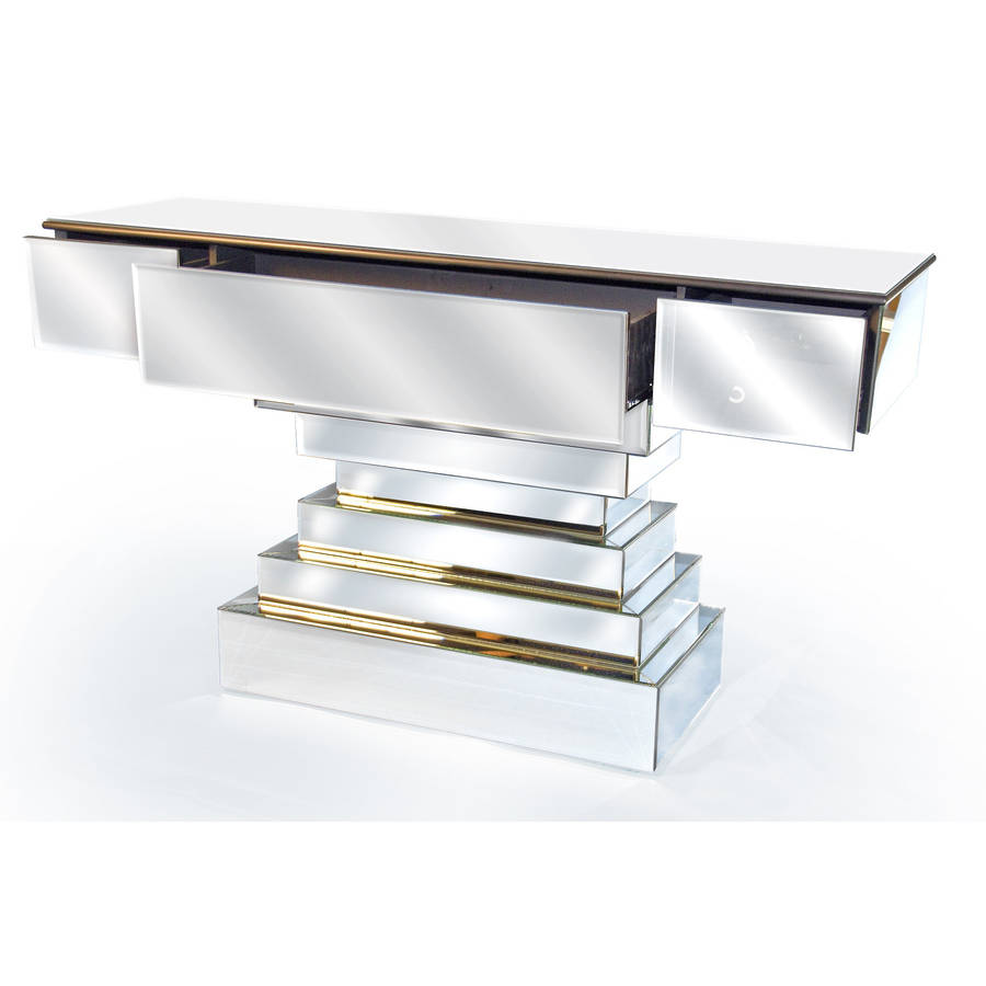 Large mirrored console table by out there interiors for Sofa table large