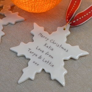 Personalised Christmas Snowflake Decoration