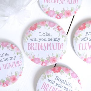 Personalised 'Be My Bridesmaid?' Mirror