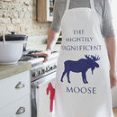 The Mightily Magnificent Moose Apron
