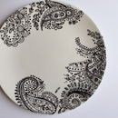 Black And White Paisley Plate