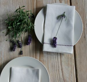 Linen Embroidered Napkin - table linen