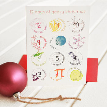 '12 Days Of Geeky' Christmas Card Packs