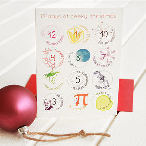 '12 Days Of Geeky' Christmas Card Packs - cards