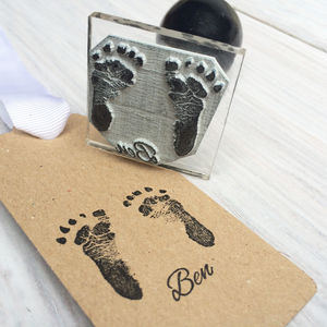 Personalised Miniature Footprint Stamp - keepsakes